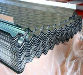 Hoja de acero galvanizada corrugada